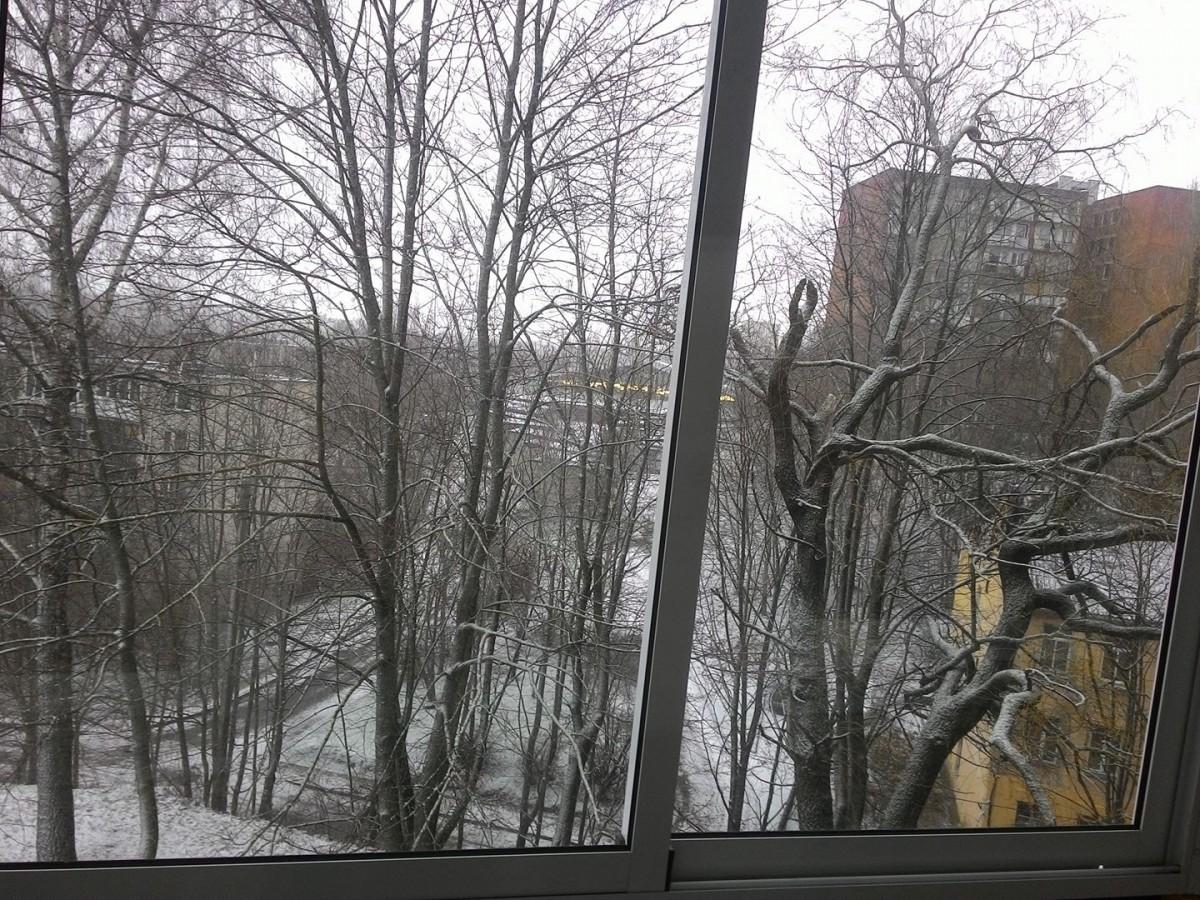 Nuvažiavus dar ir sniegą mačiau, tik greit jo neliko